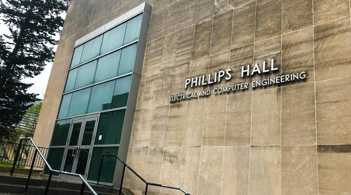 Entrance of Phillips Hall