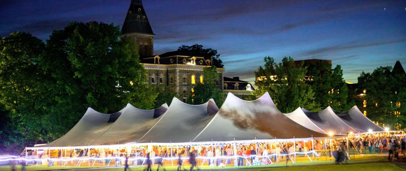 Reunion Tent at Night