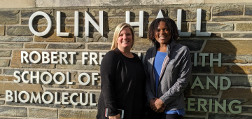 Professor Susan Daniel and Ph.D. student Ferra Pinnock