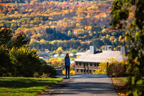 Ithaca in the fall