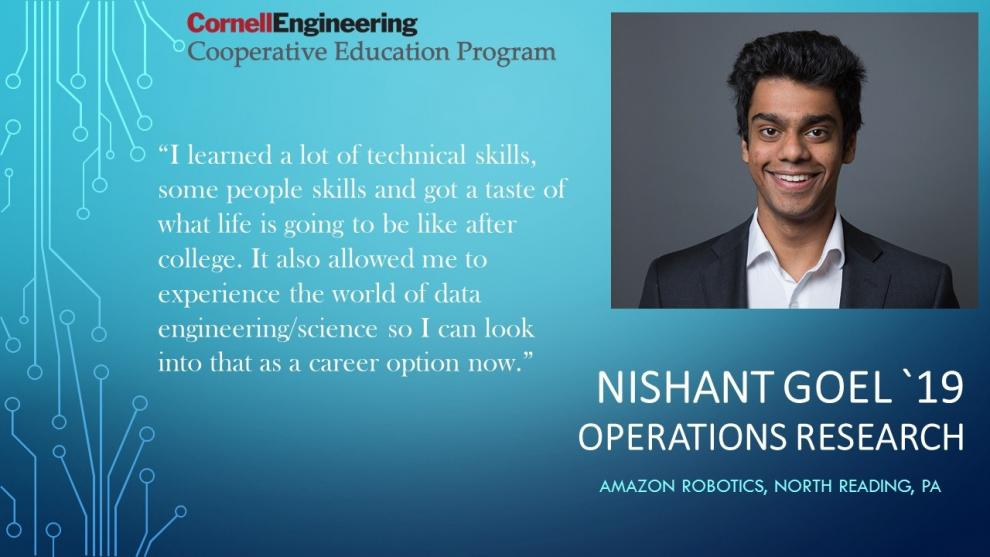 Nishant Goel, Operations Reserach, Amazon Robotics