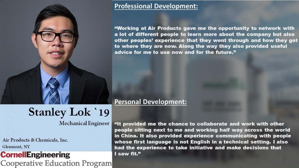 Stanley Lok, Mechanical Engineer, Air Products & Chemicals