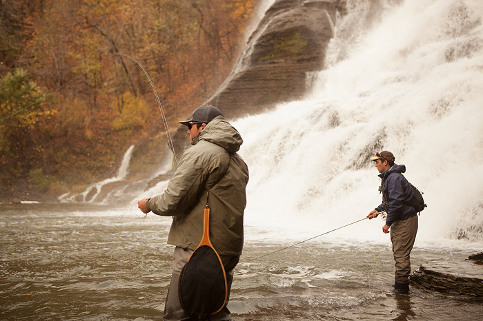 Flyfishers at Ithaca Falls